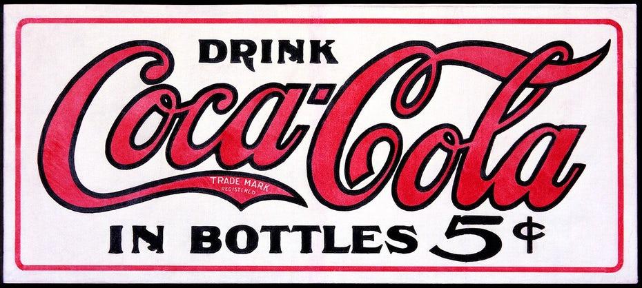 logo đầu tiên của cocacola