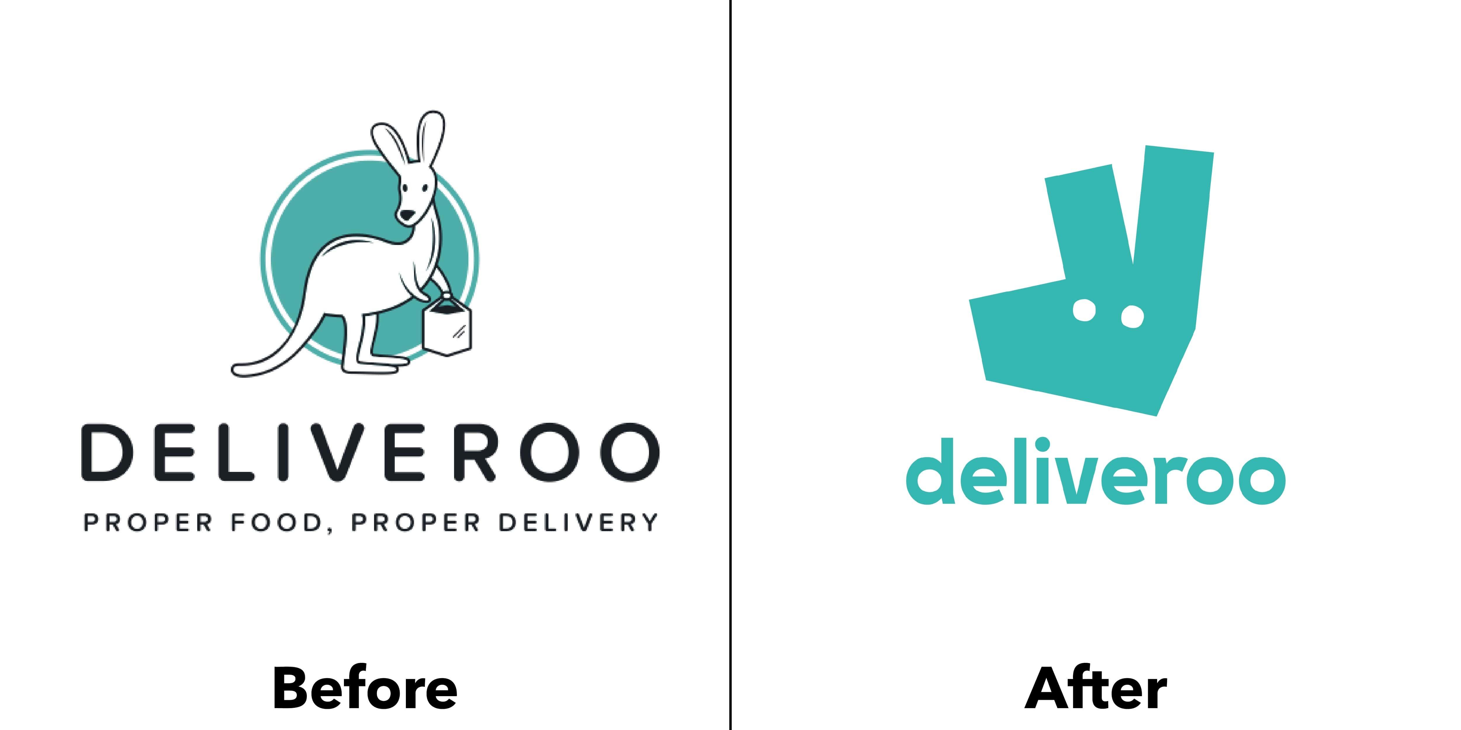 logo deliveroo trước và sau