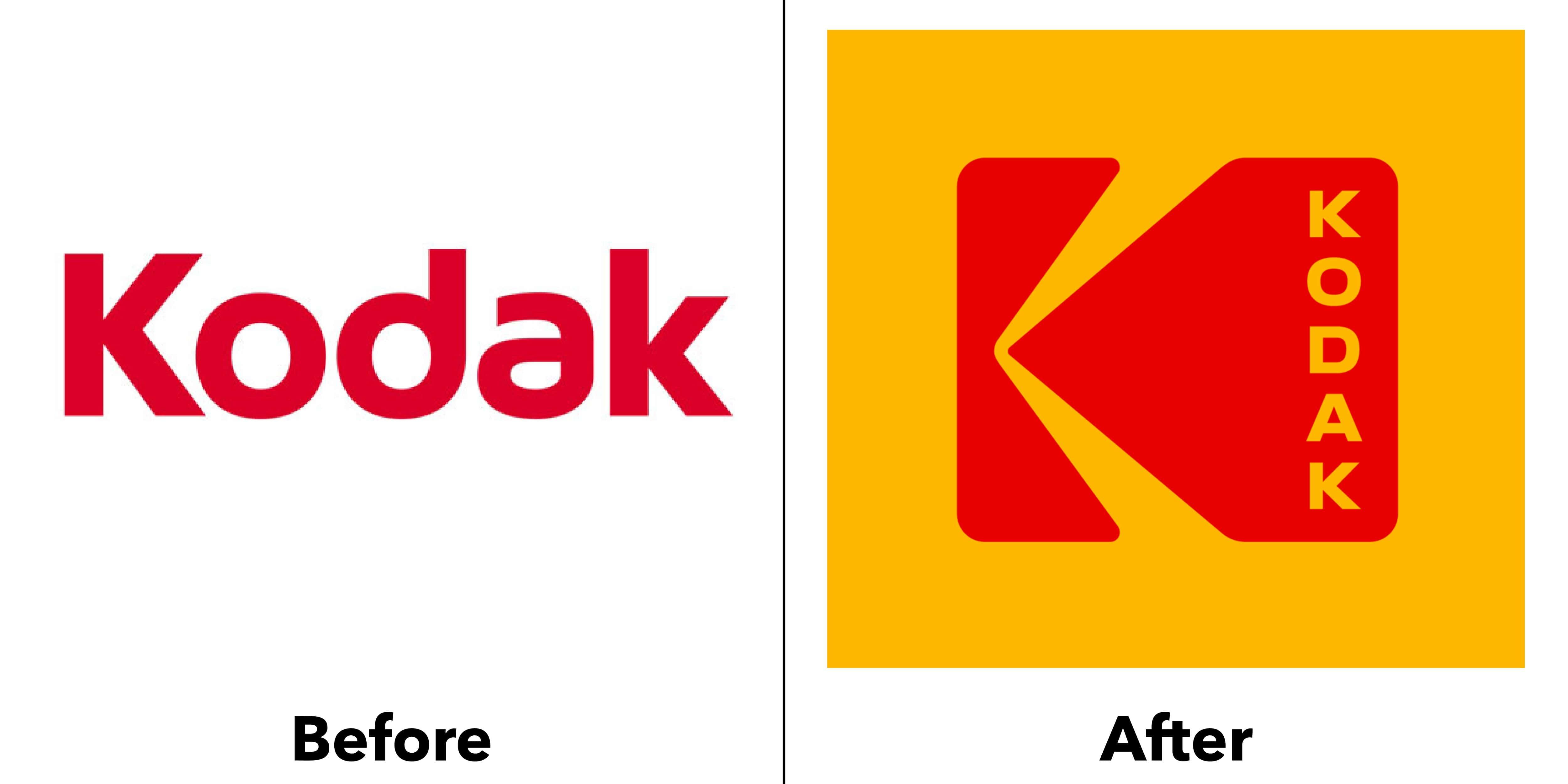 logo kodak trước và sau