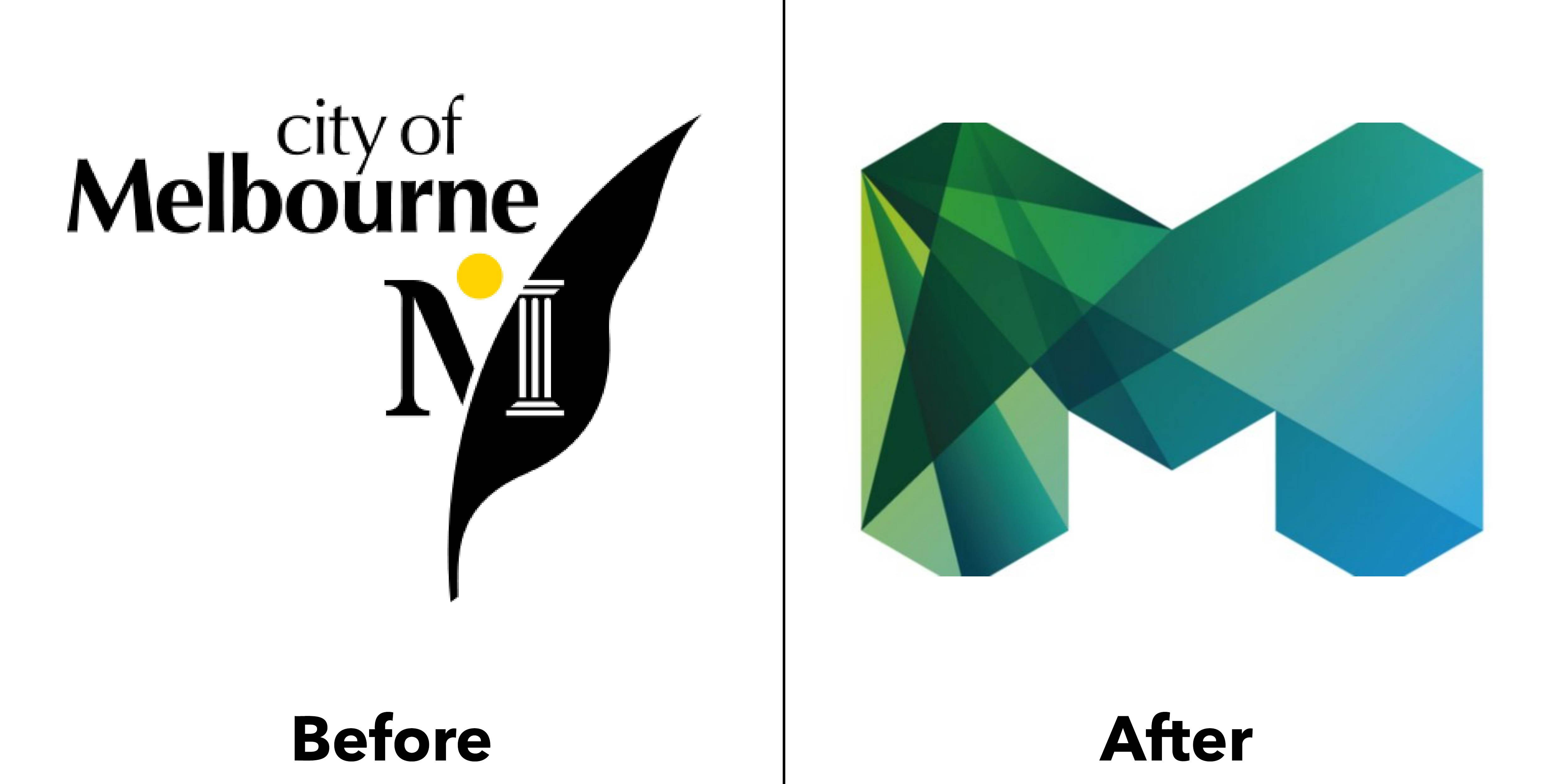 logo melbourne trước và sau
