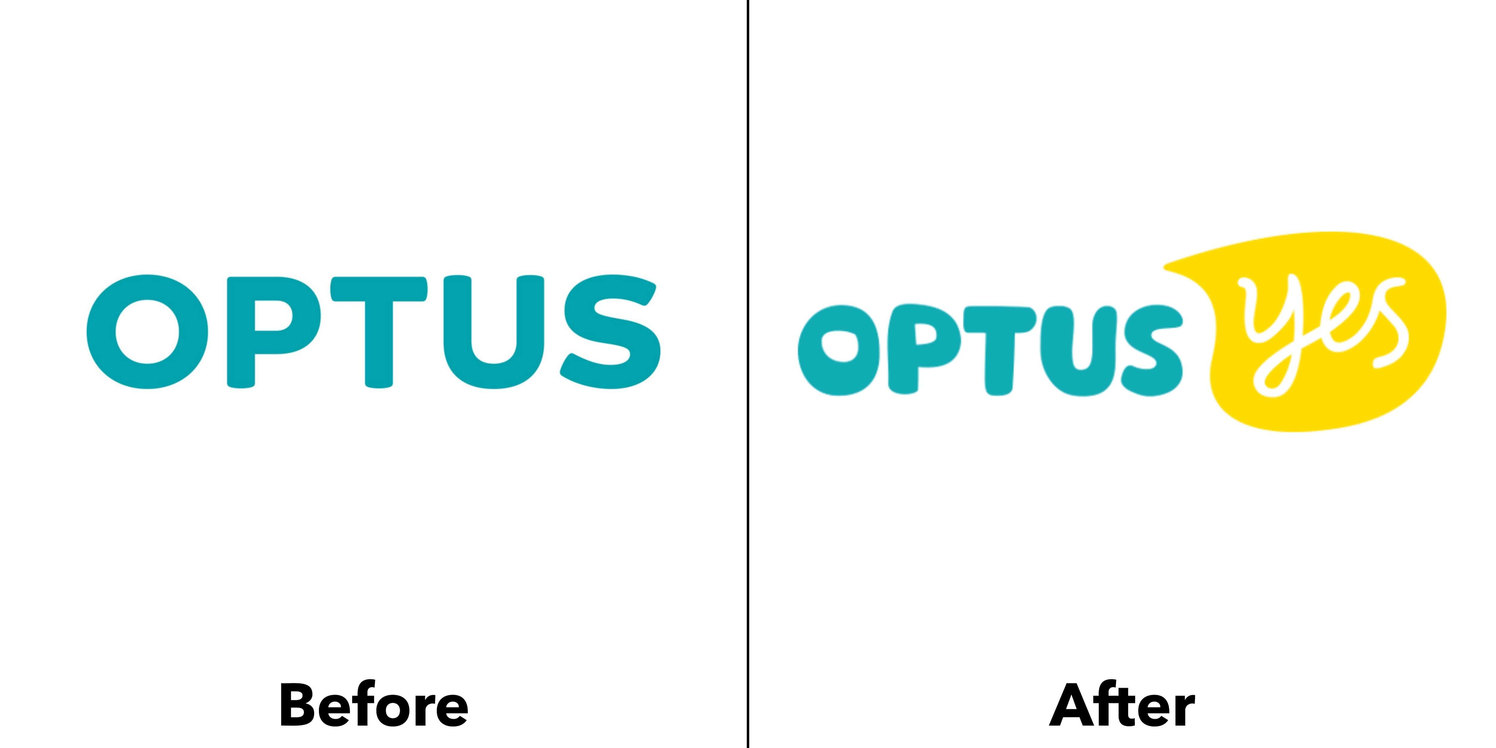 logo optus trước và sau
