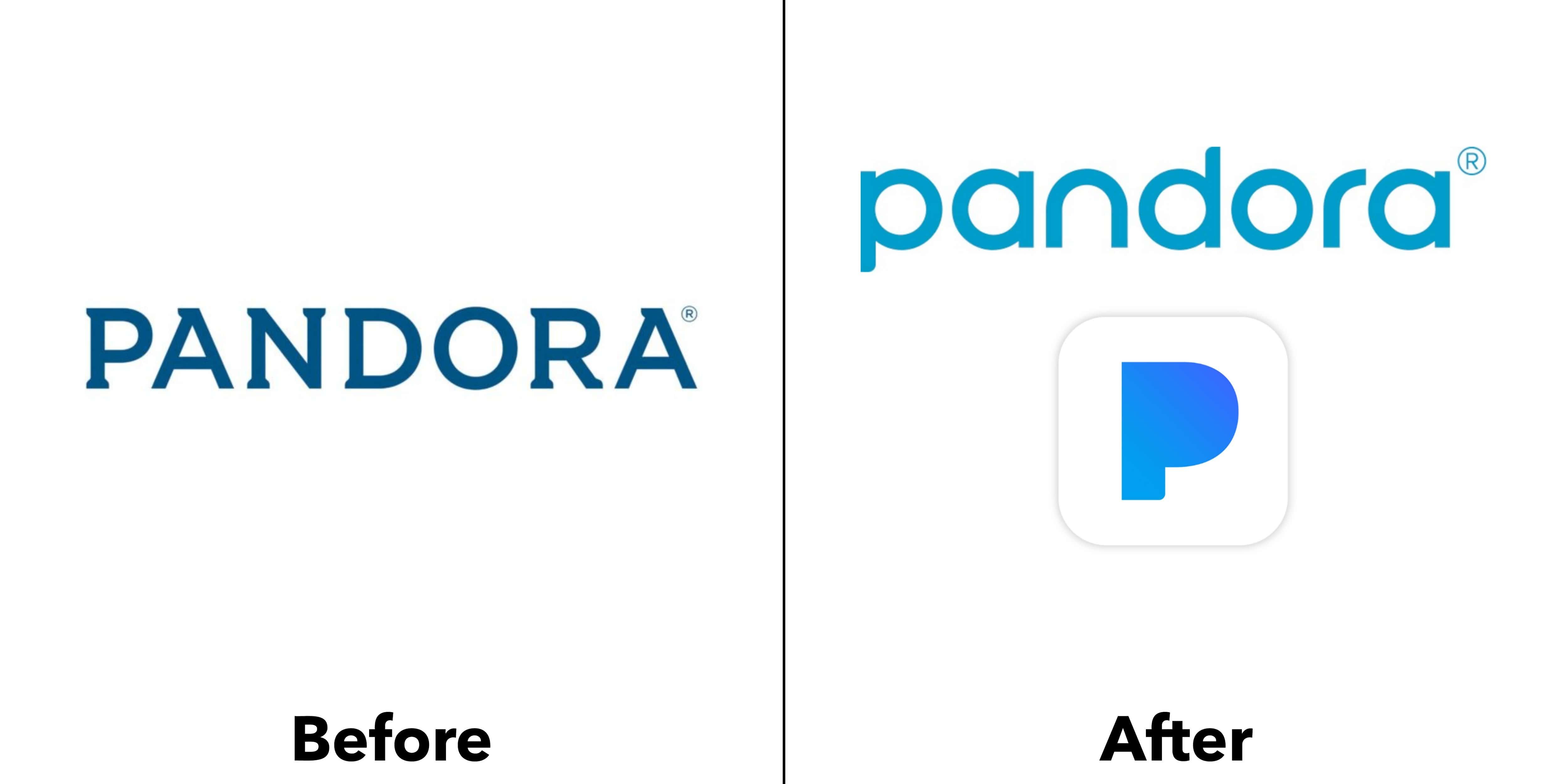 logo pandora trước và sau