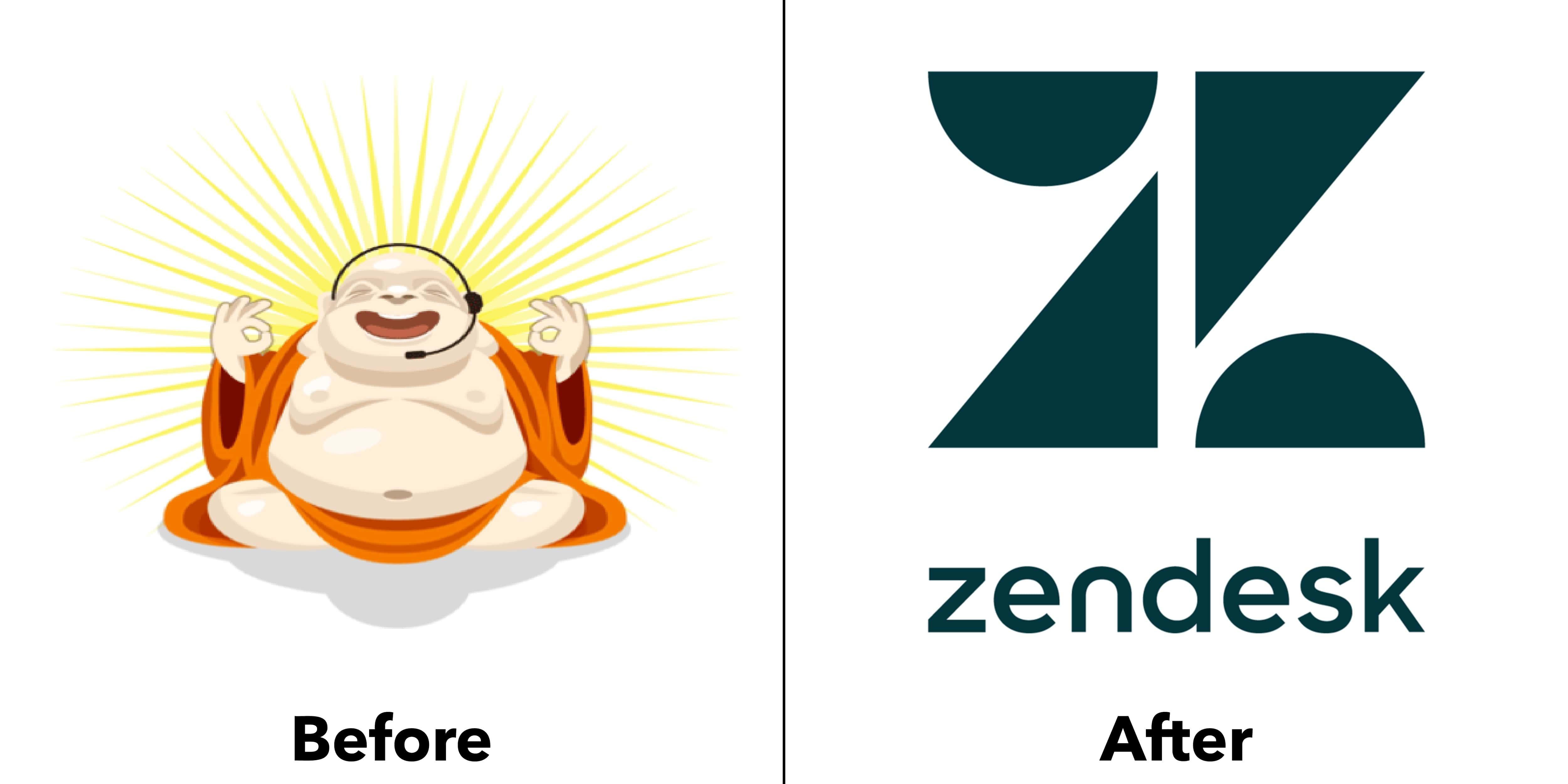 logo zendesk trước và sau