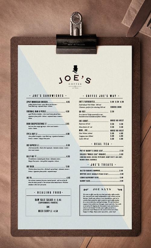 lựa chọn chất liệu phù hợp cho menu