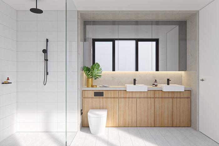 mẫu nhà tắm đẹp giống như spa