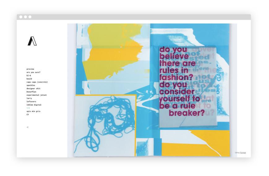 mẫu portfolio đẹp của ashley font