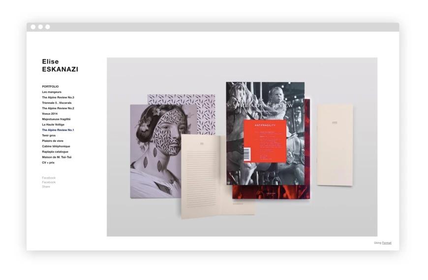 mẫu portfolio đẹp của elise eskanazi