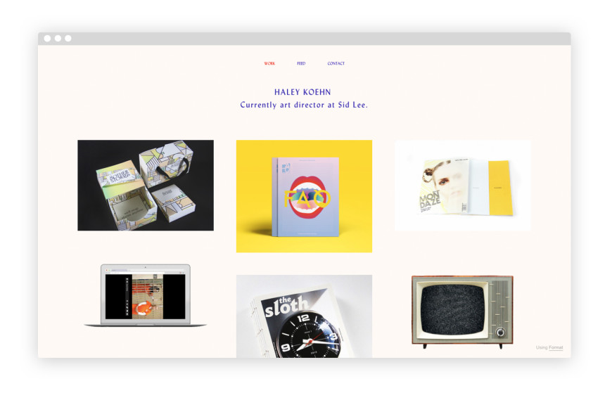 mẫu portfolio đẹp của haley koehn