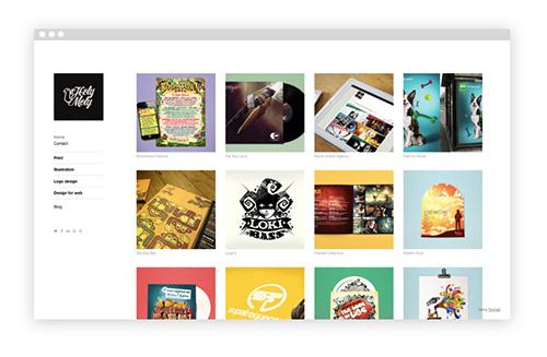 mẫu portfolio đẹp của holy moly