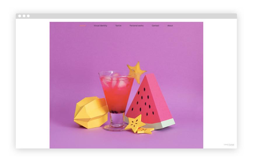 mẫu portfolio đẹp của rendie studio
