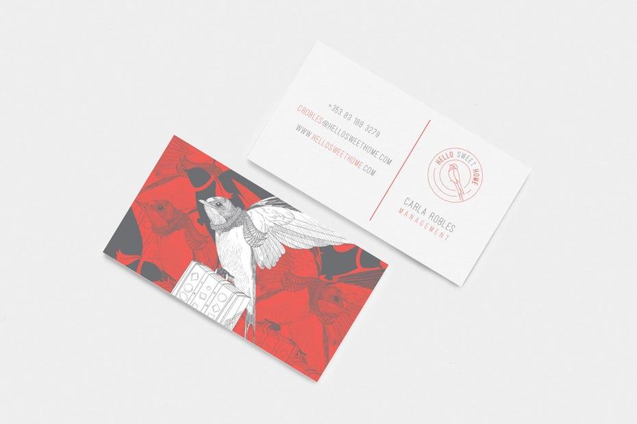 màu sắc của card visit
