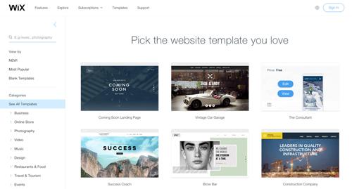 mẫu template chuyên nghiệp cho website