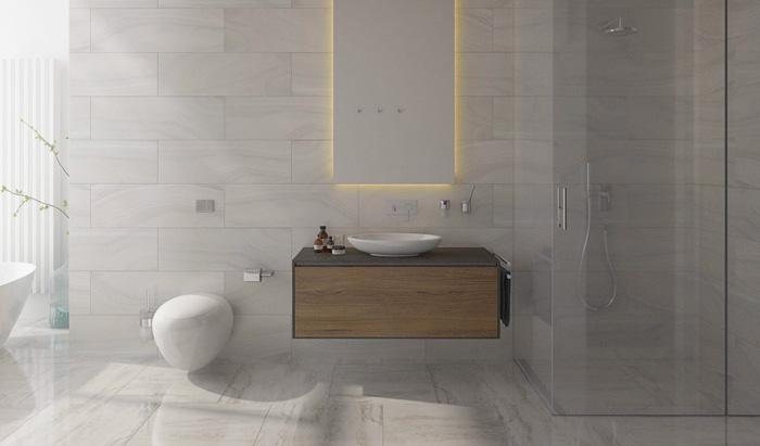 mẫu thiết kế nhà tắm đẹp tối giản