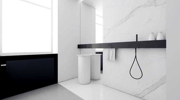 mẫu thiết kế phòng tắm tối giản đẹp