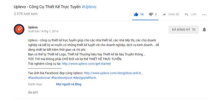 mô tả video trên youtube