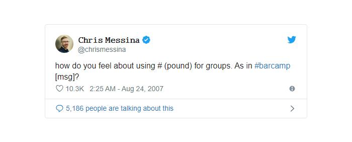 nguồn gốc của hashtag