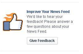Khảo sát người dùng về News Feed của Facebook