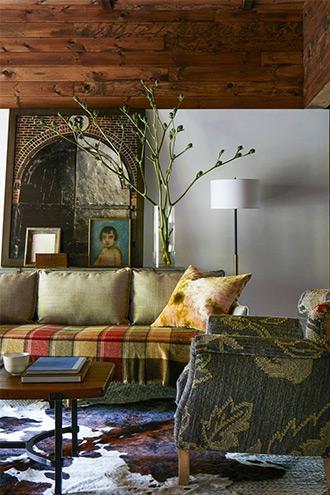 nội thất phòng khách của Amanda Seyfried