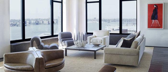 nội thất phòng khách vùng West Village