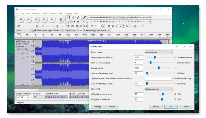 phần mềm cắt nhạc online audacity