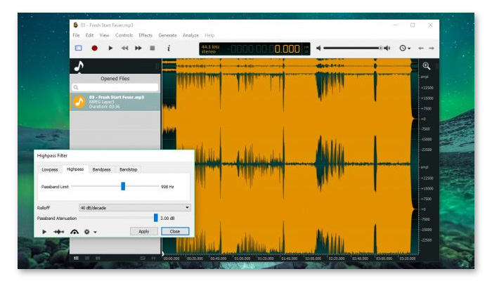 phần mềm cắt nhạc online ocenaudio