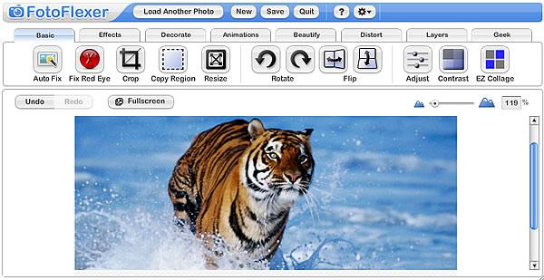 phần mềm chỉnh sửa ảnh fotoflexer