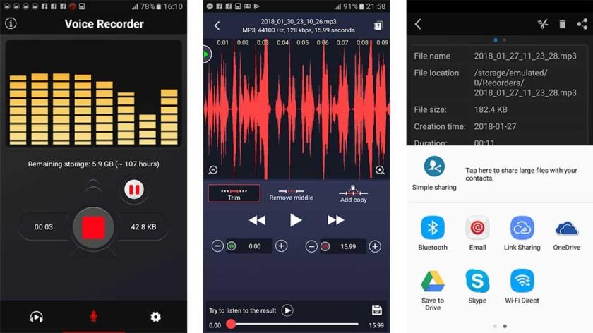 phần mềm ghi âm voice recorder 2018