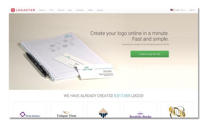 phần mềm làm và tạo logo online logaster