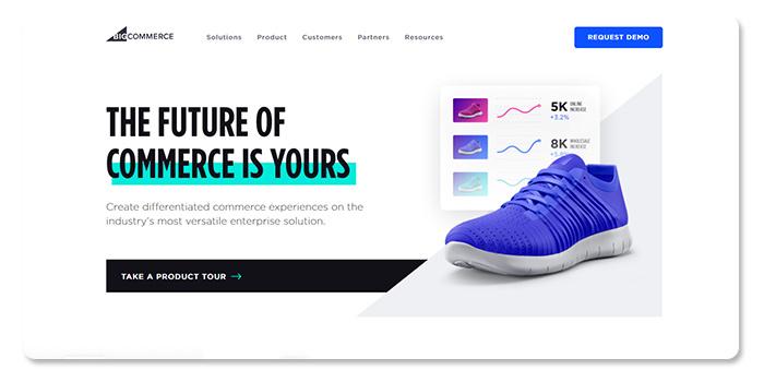 phần mềm làm và tạo website BigCommerce