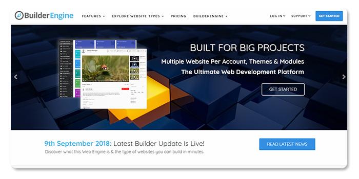 phần mềm làm và tạo website BuilderEngine