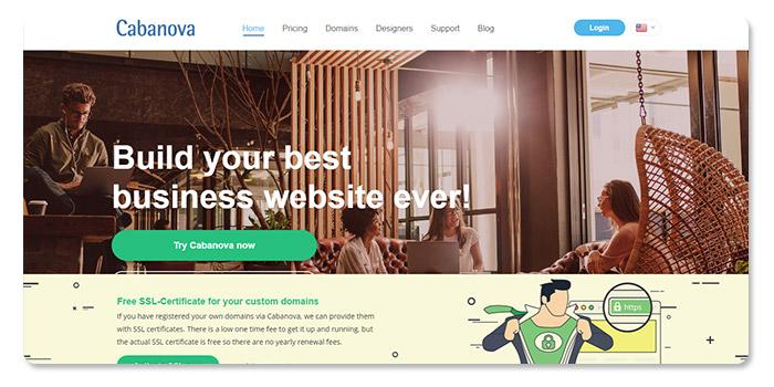 phần mềm làm và tạo website Cabanova
