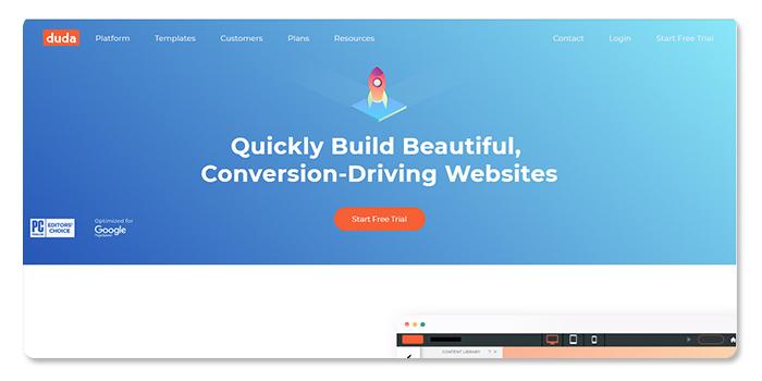 phần mềm làm và tạo website duda