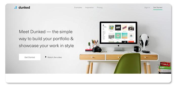 phần mềm làm và tạo website Dunked
