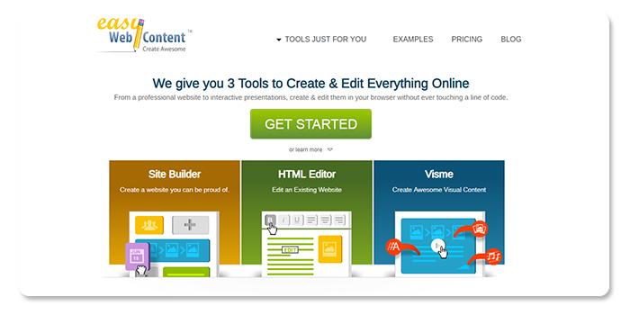 phần mềm làm và tạo website Easy Webcontent