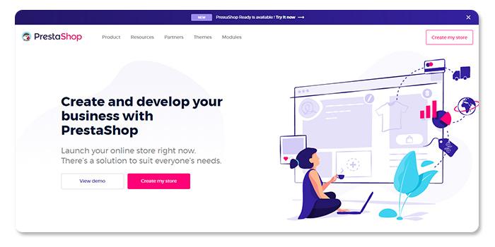 phần mềm làm vào tạo website PrestaShop