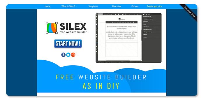 phần mềm làm và tạo website Silex