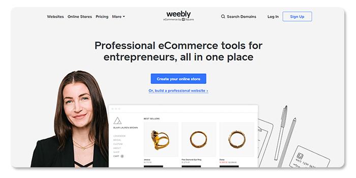 phần mềm làm và tạo website weebly