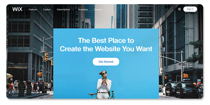 phần mềm làm và tạo website wix