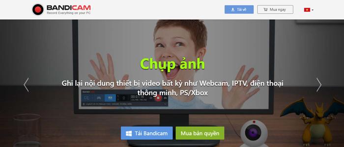 phần mềm quay màn hình máy tính Bandicam