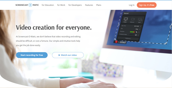 phần mềm quay màn hình máy tính Screencast-O-Matic