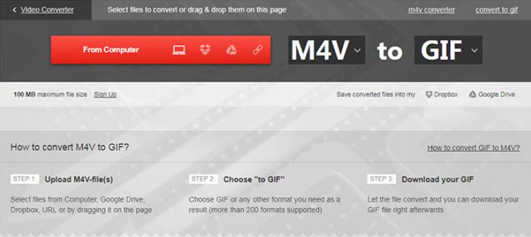 phần mềm tạo ảnh GIF online Convertio
