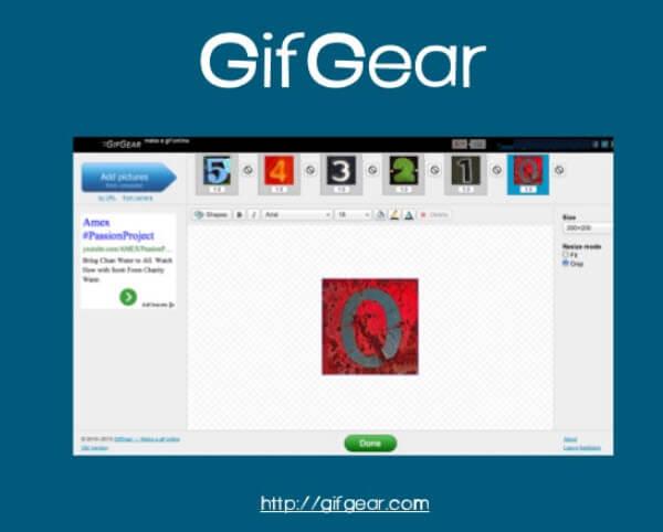 phần mềm tạo ảnh GIF Gifgear