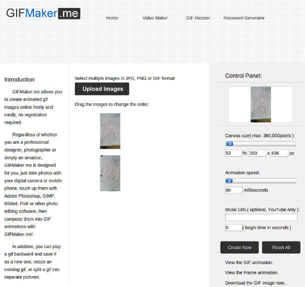 phần mềm tạo ảnh GIF GIFMaker