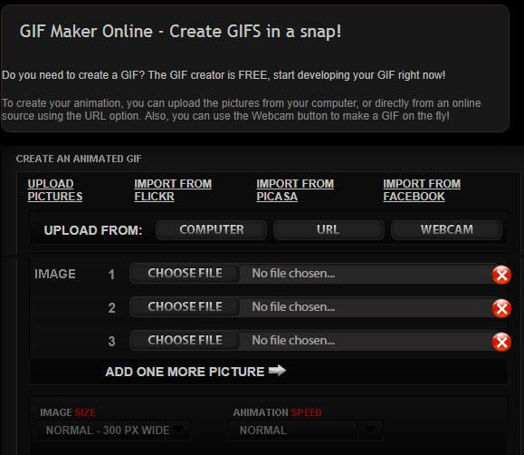 phần mềm tạo ảnh GIF GIF maker online
