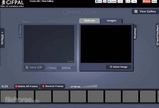 phần mềm tạo ảnh GIF Gifpal