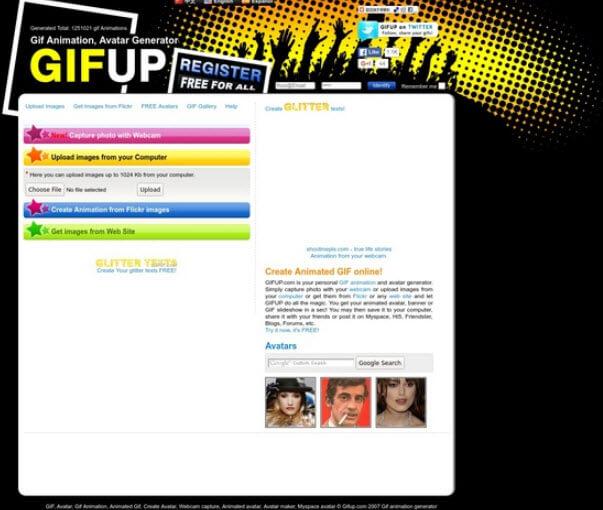 phần mềm tạo ảnh GIF Gifup