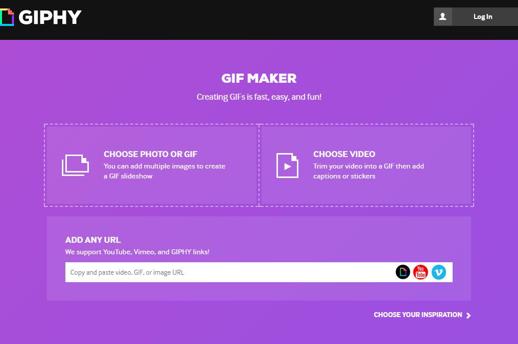 phần mềm tạo ảnh GIF Giphy
