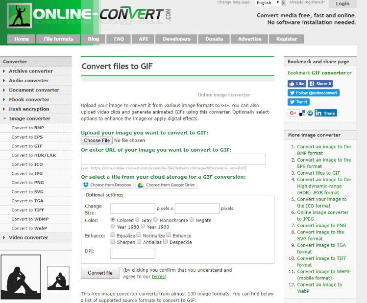 phần mềm tạo ảnh GIF online image converter