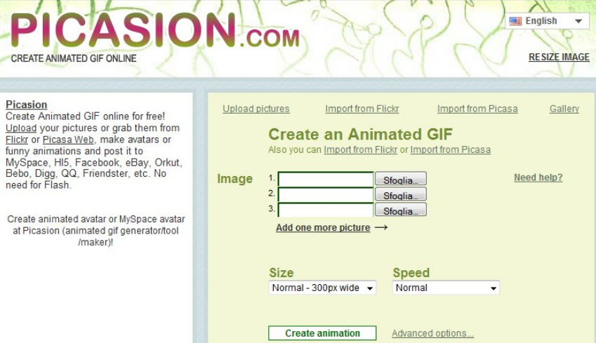 phần mềm tạo ảnh GIF Picasion