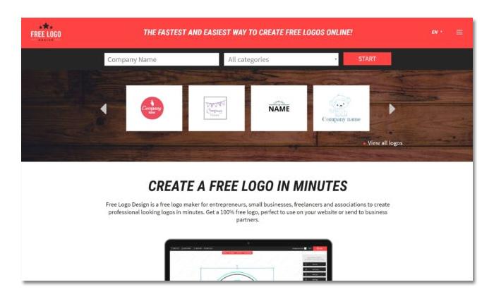 phần mềm tạo logo online free logo design